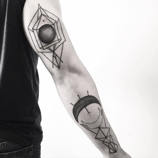 Dot and line work tattoos #errancetattoos
