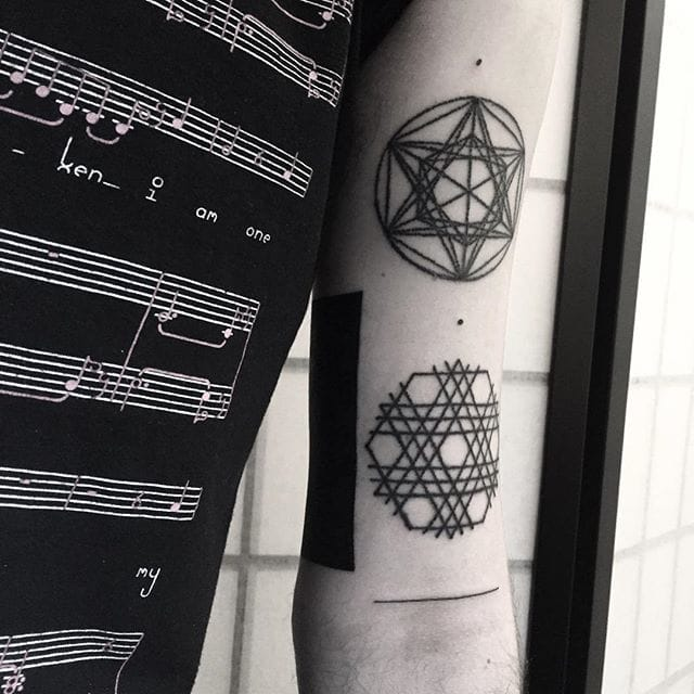 Black geometric tattoos #errancetattoos