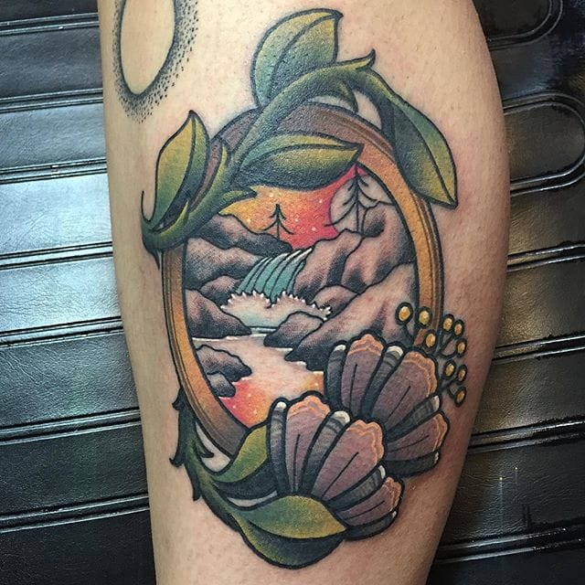 Clever Scenery Tattoos By Kevin Ray