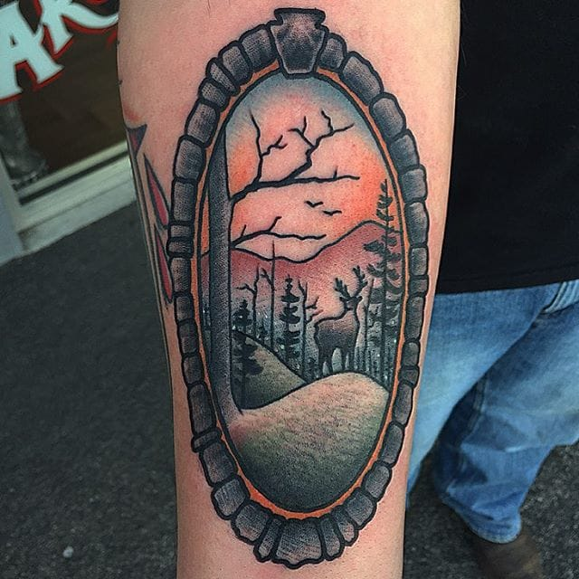 Clean line work and shading on this tattoo by Kevin Ray