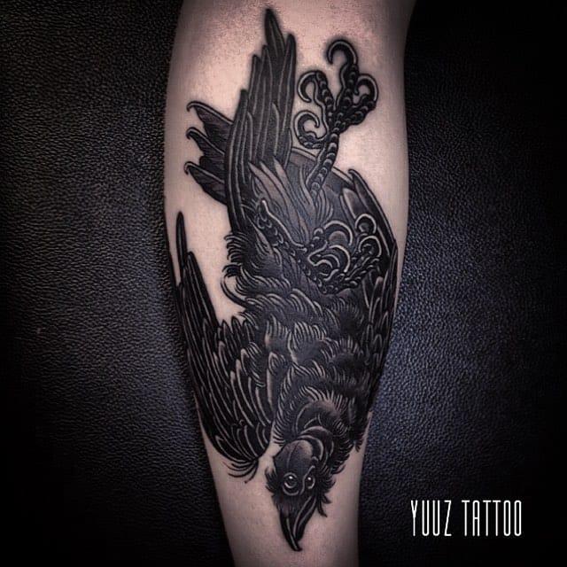 Elegant Black Work Tattoos by Yuuz