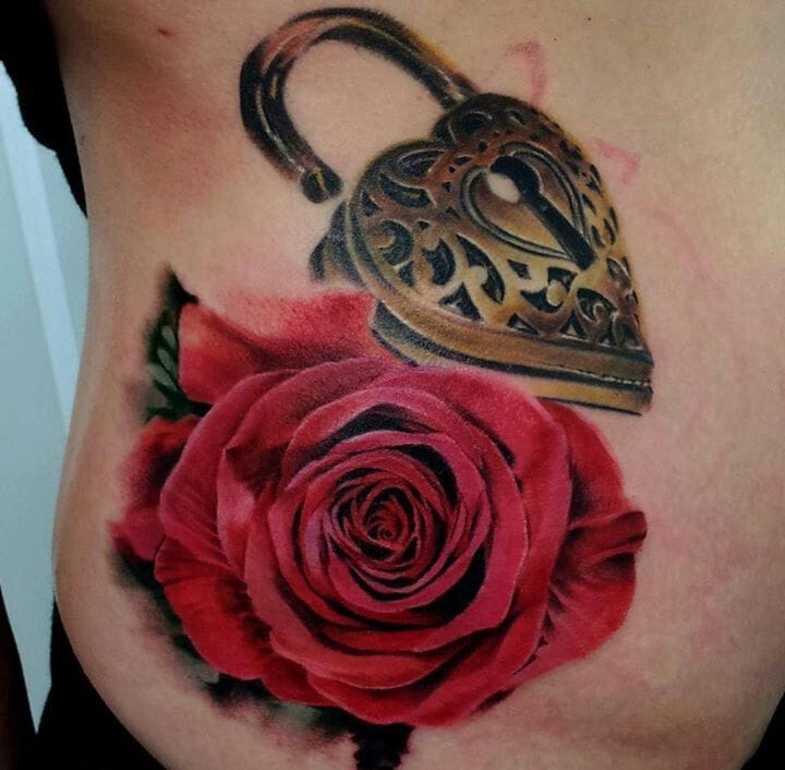 Realistic heart locket and rose by Matt Jordan