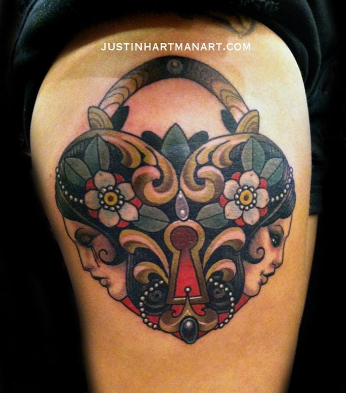 Beautiful heart locket composition by Justin Hartman