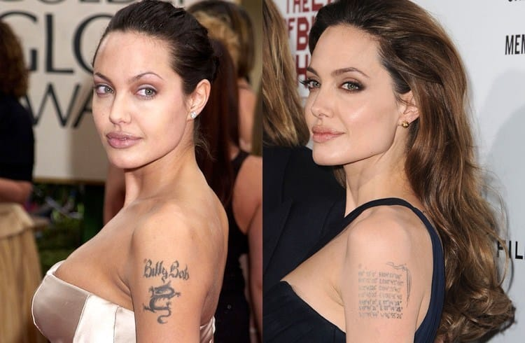 "Angelina Jolie's very famous ""Billy Bob"" coverup"