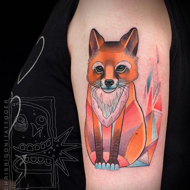 Fox tattoo #ChrisRigoni