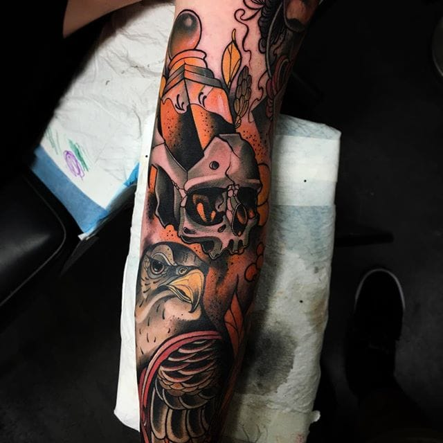 Cool progress on this sleeve by Conor Wearn
