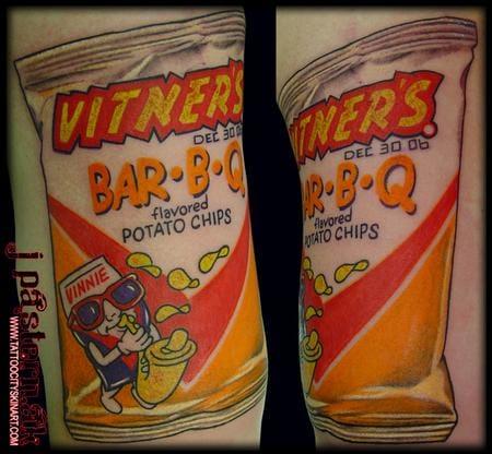 Chips tattoos, unknown artist.
