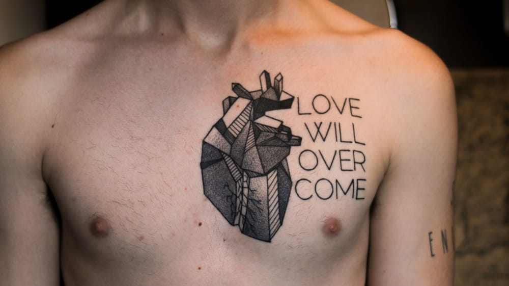 Indeed. And everything is made out of Love. Cool Geometric Heart Tattoo style by Karrie Arthurs.