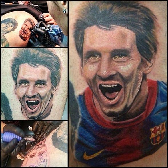 Messi Tattoo by Maddalena Ruggiero