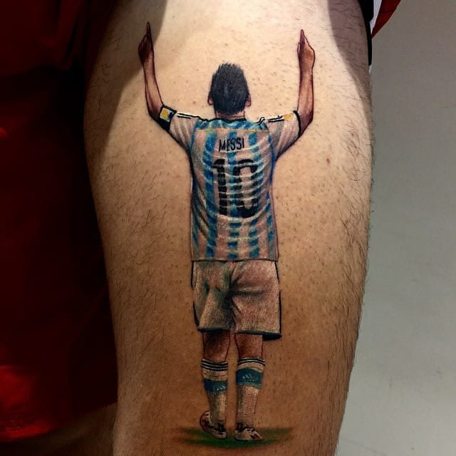 Messi Tattoo by Robert Lopez