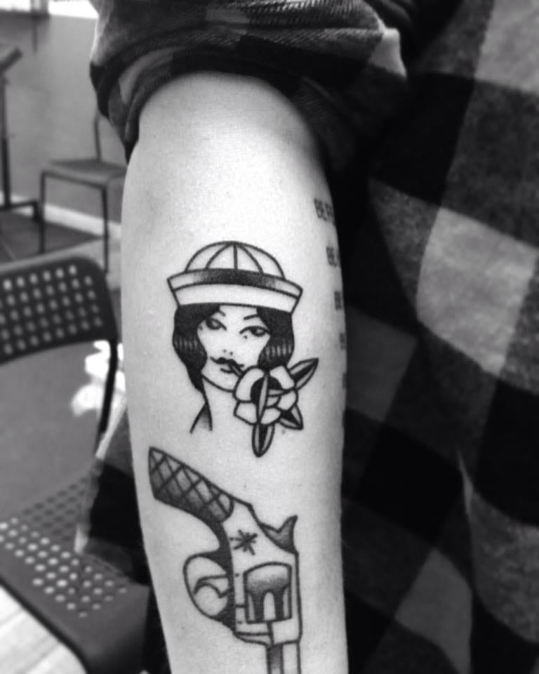 Sailor Girl Tattoo by Blame Max Tattoo