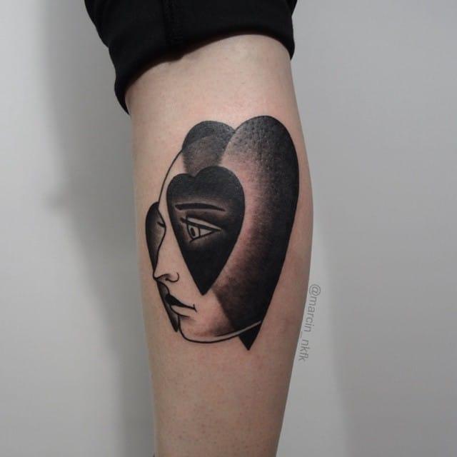 Romantic tattoo by @marcin_nkfk