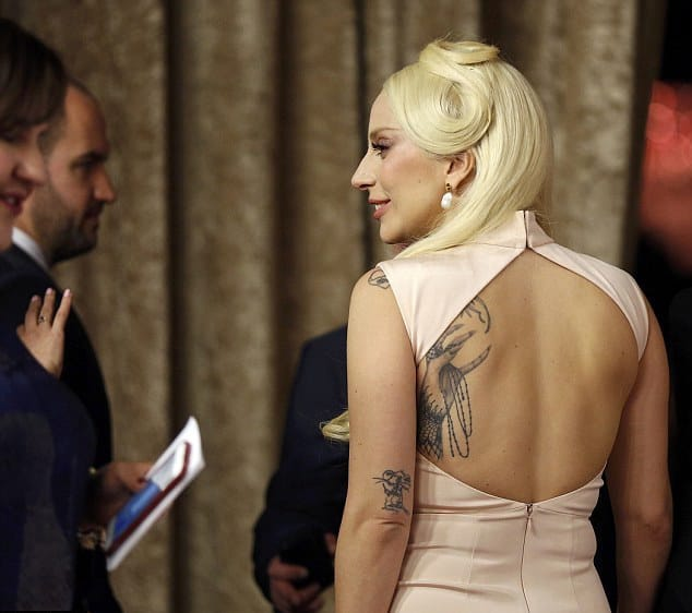 Lady Gaga's Tattoos Take Center Stage At This Year's Oscars Luncheon