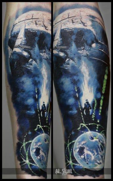 Epic Prometheus tattoo by Al Sigal. Photo: vk.com.