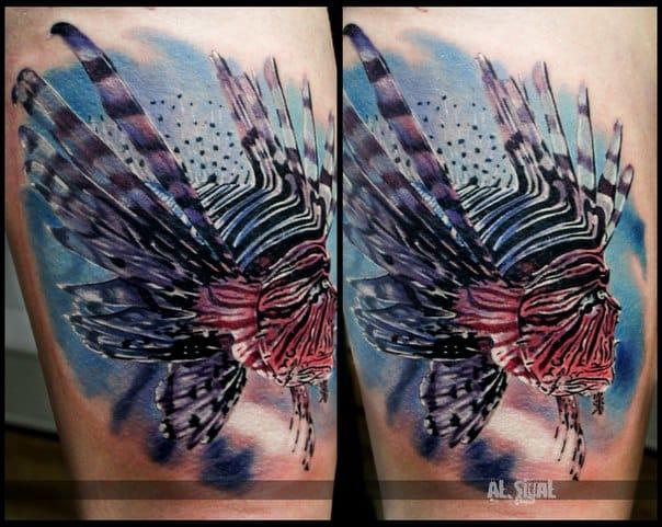 Colourful tattoo by Al Sigal. Photo: vk.com.