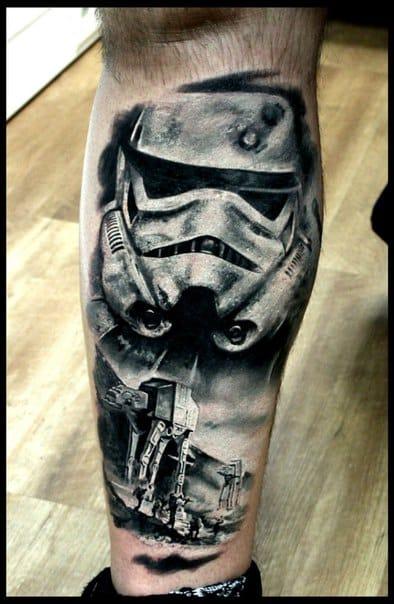 Stormtrooper tattoo. Photo: vk.com.