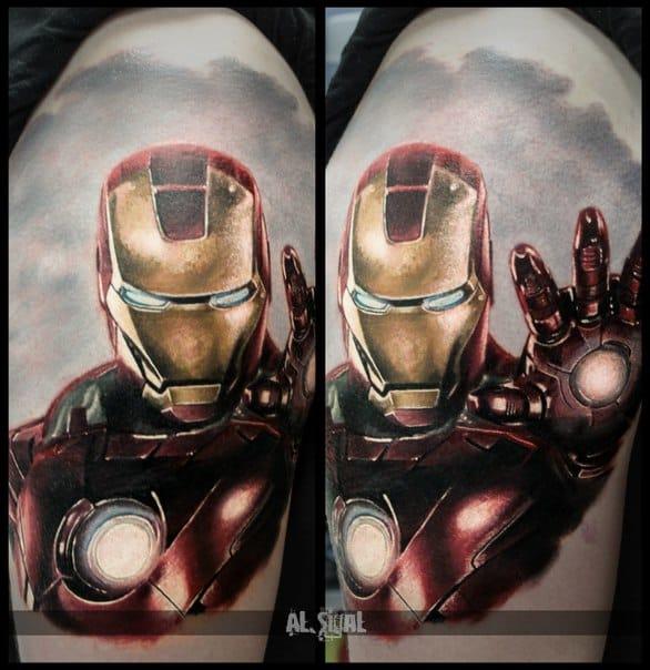 Iron Man tattoo. Photo: vk.com.