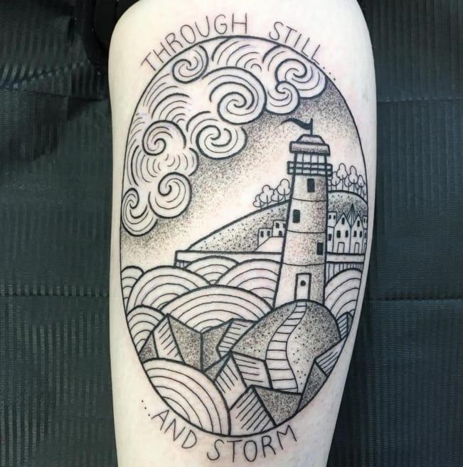 The Dainty Mini Circular Landscape Tattoos Of Valeria Marinaci