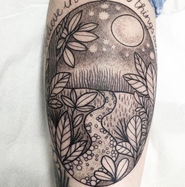 Magic forest tattoo. Photo: Instagram.