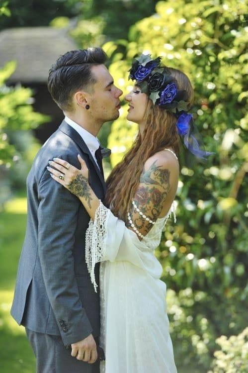 tattooed wedding
