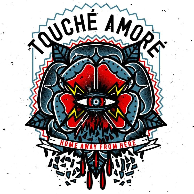 Artwork for the band Touché Amoré by Black Cloud Design. Photo: Facebook.