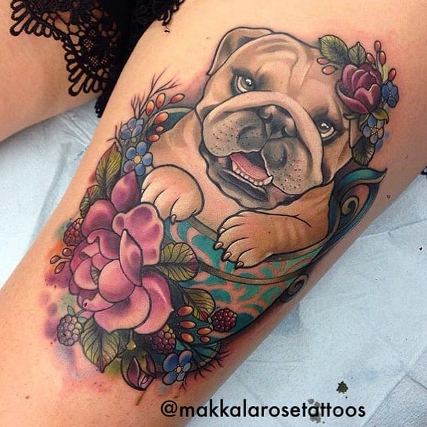 Tattoo by Makkala Rose. From Lady Tattooers Facebook Page.