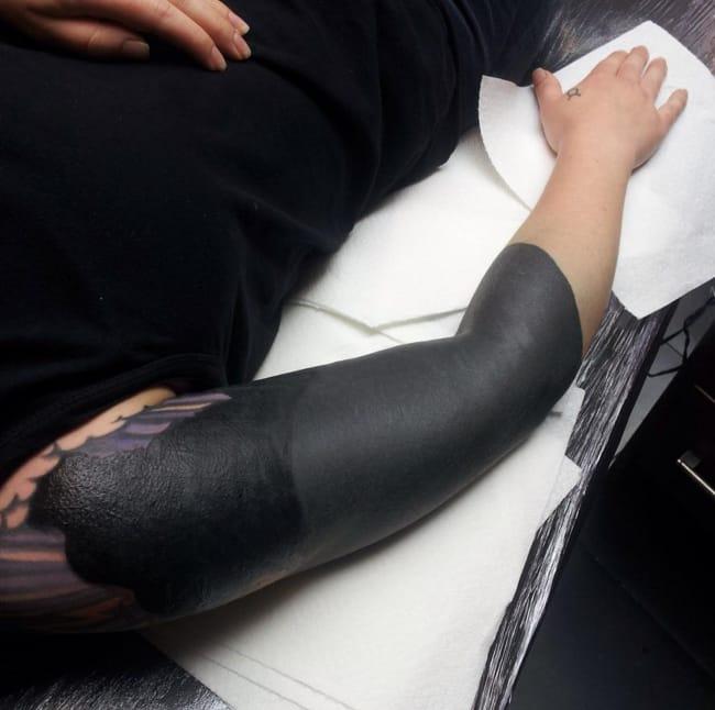 None More Black Than Blackout Sleeve Tattoos Tattoodo