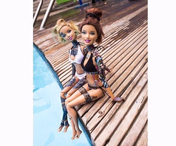 Barbie suits tattoos. Photo: VK.com.