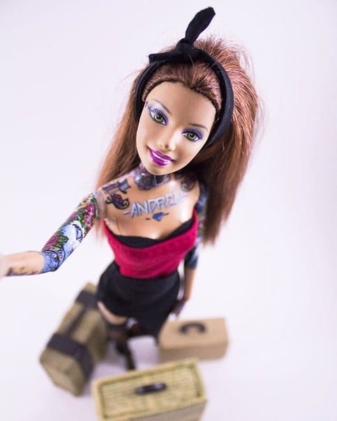 Barbie gets ready to jet set around the world. Photo: VK.com.