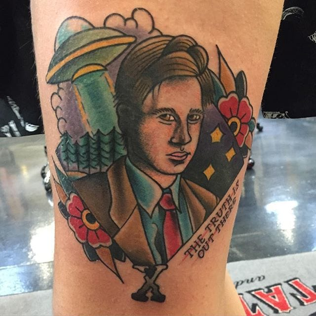 X-Files Tattoo by Shannon Taber