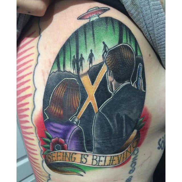 X-Files Tattoo by @carminatattoos