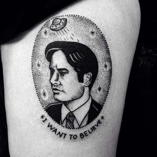 X-Files Tattoo by Anka Lavriv