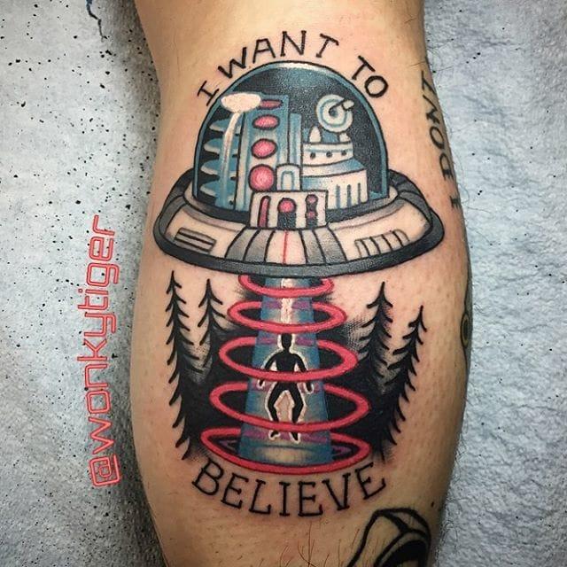 X-Files Tattoo by Ian Bederman