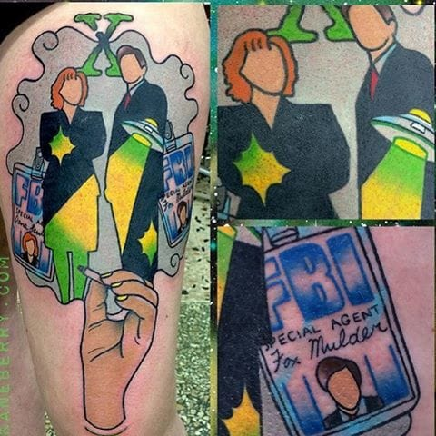 X-Files Tattoo by Kane Berry