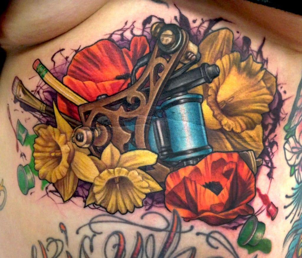 10 Bold & Badass Tattoo Machine Tattoos