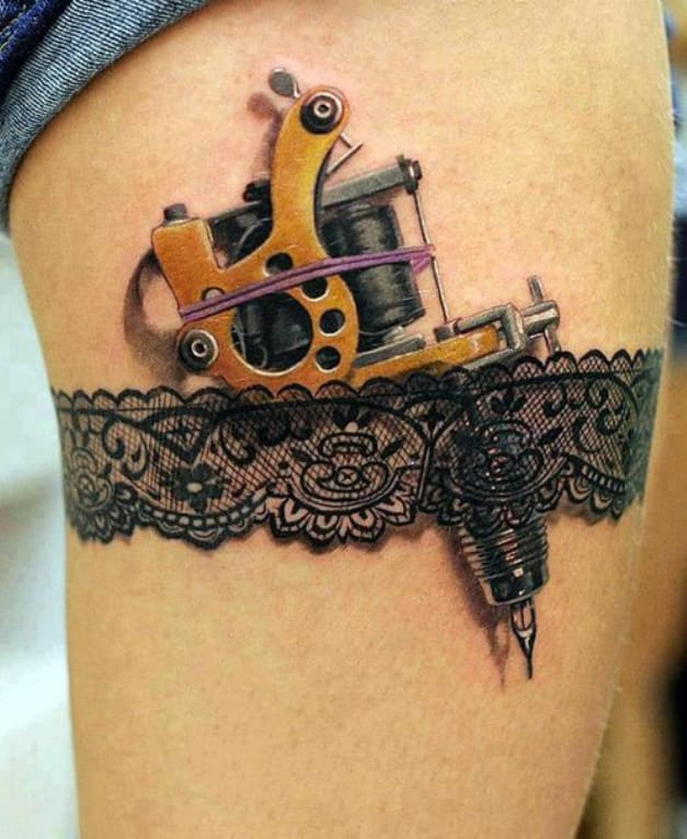 Here's something for the lady tattooers! Artist unknown