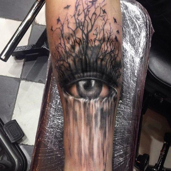 Eye and waterfall by Katya Slonenko