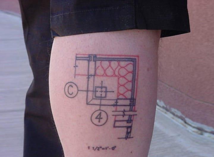 Floor-plan tattoo, via Angryarchi