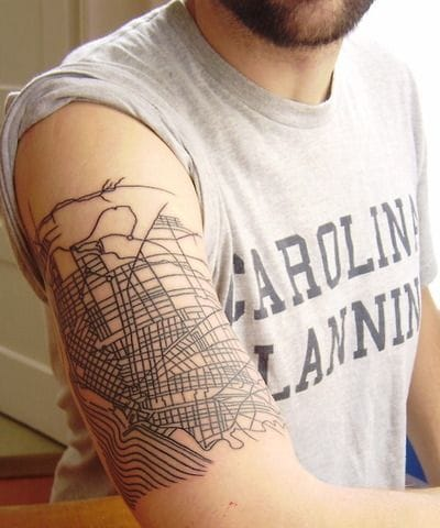 Nice urbanism plans design, via Tattoo Magz