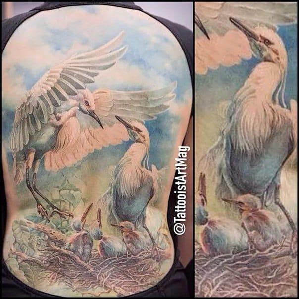Realistic bird tattoo #AlexanderPashkov