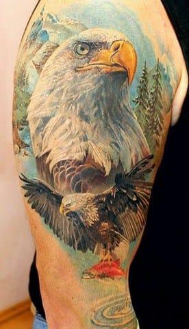 Eagle half sleeve #AlexanderPashkov