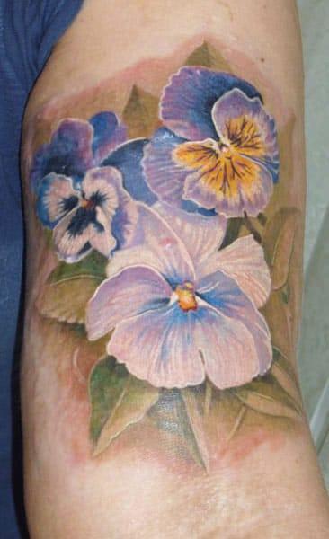 Beautiful realistic flower tattoo #AlexanderPashkov