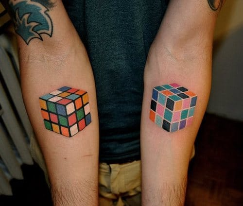 These adorable and colorful cubes are ideal for Couples, best friends and siblings who love solving puzzles to get as matching tattoos