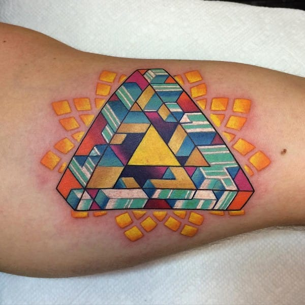 Penrose Triangle Tattoo. Artist unknown
