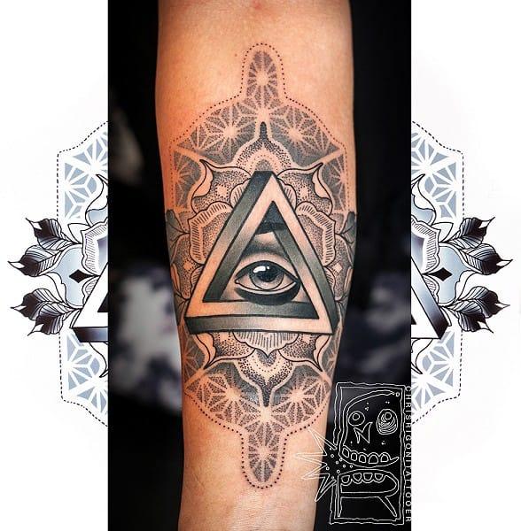Beautiful Penrose Triangle Tattoo by Chris Rigoni