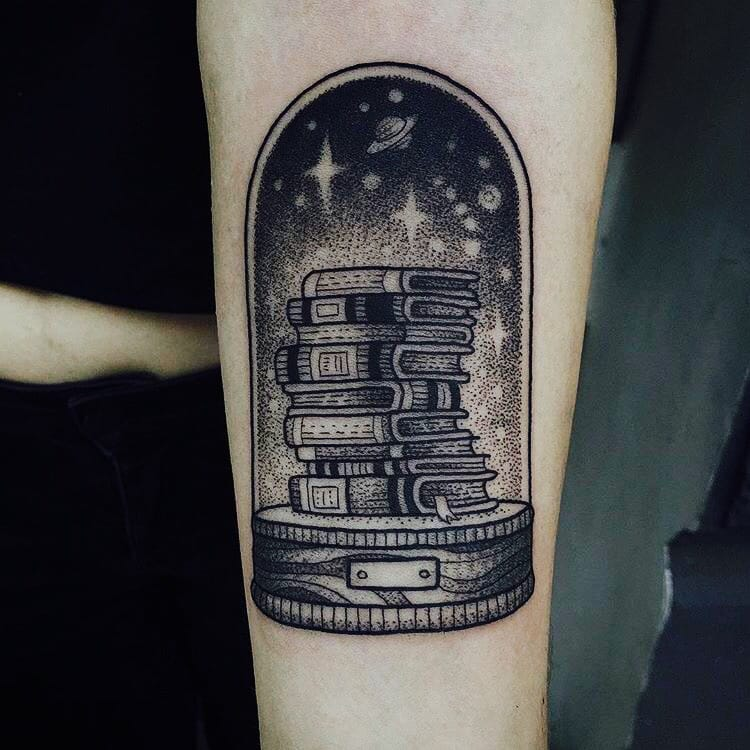 15 Book Tattoos That Will Take You Away To A Place Inside Your Head