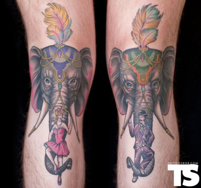 Elephant show! By Brendan Rowe at Unbreakable Tattoo in Studio City, CA.