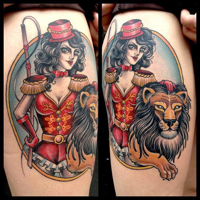 Lovely lion tamer by Chelsea Rhea.