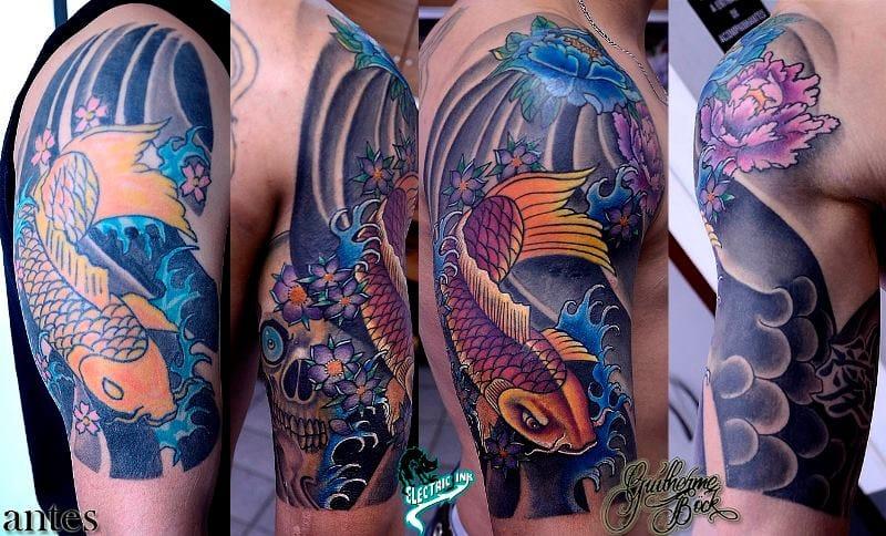 Reforma de tatuagem oriental