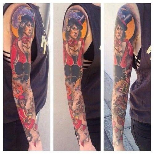 Circus sleeve by Dan Molloy.